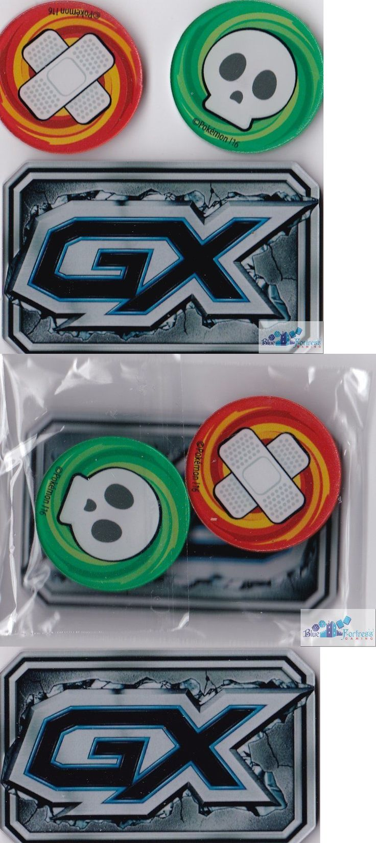 Accessories 2544: Gx, Poison And Burned Acrylic Counters Markers For Pokemon Tcg Cards Sealed New -> BUY IT NOW ONLY: $49.99 on eBay!