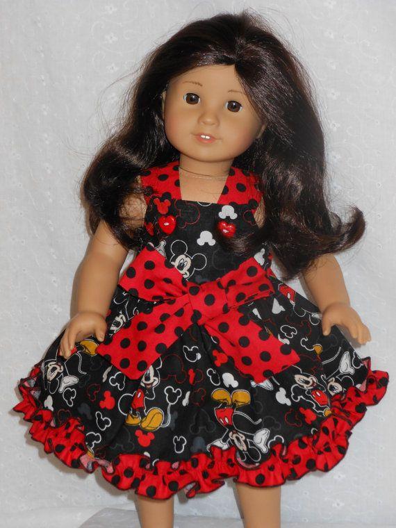 Mickey Mouse Dress Ensemble 2 piece dress by MyPrincessandHerDoll