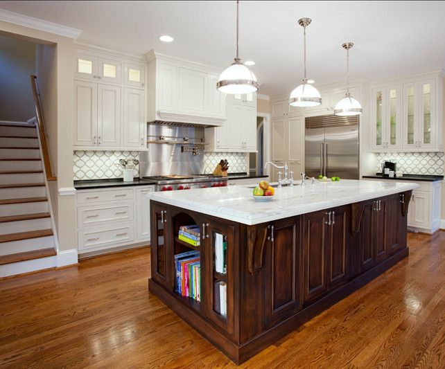 white kitchen with dark stained island i often prefer white kitchens with dark stained island. Black Bedroom Furniture Sets. Home Design Ideas