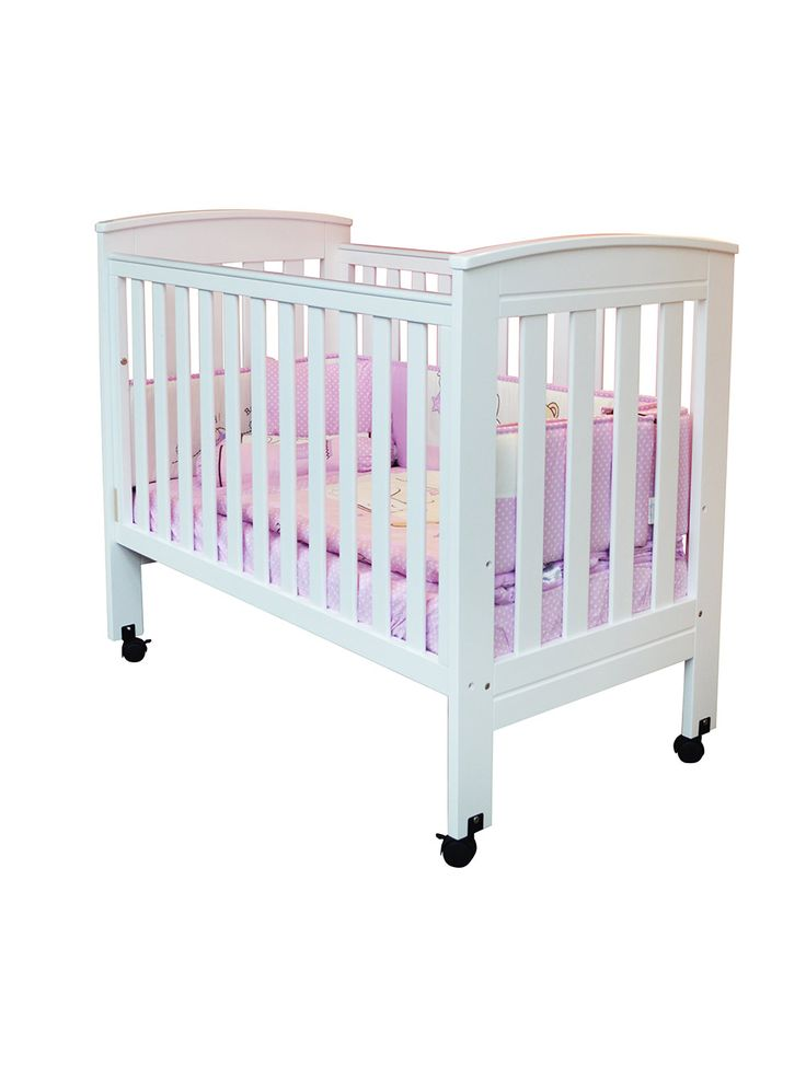 "Buy Baby Cots Online in Singapore | BabyDream Milano 4 In 1 Baby Cot + FREE 4"" Anti-Dustmite Mattress with Holes + F"