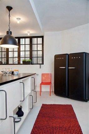 Die besten 25+ Kühlschrank schwarz Ideen auf Pinterest - küche mit side by side kühlschrank