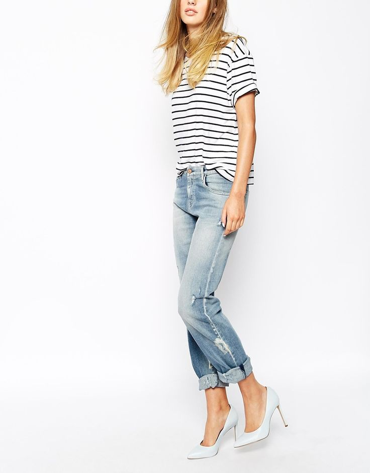Mih Jeans Manchester Oversized Boyfriend Jeans With Distressing