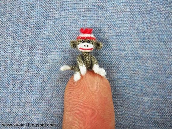 Tiniest sock monkey ever