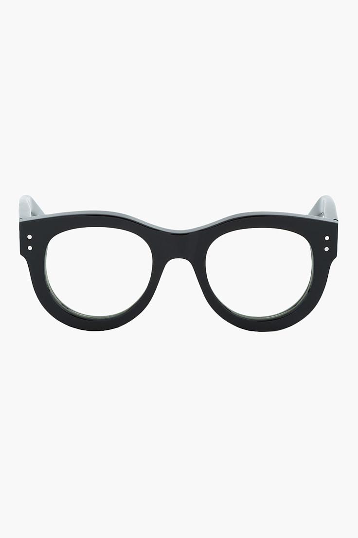 SASQUATCHFABRIX Black Polished Thick-Frame Optical Glasses