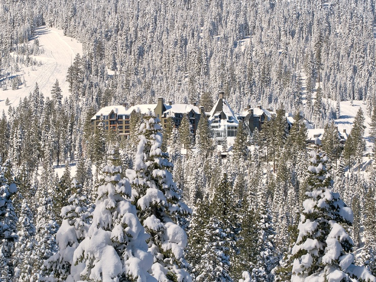 """Ritz Carlton Lake Tahoe CA  Ski valets carry guests' gear and escort them to the slopes, where """"the skiing is fantastic."""