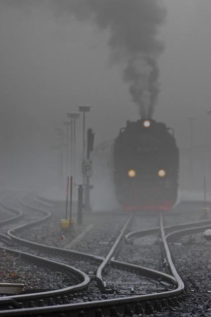 Tren vapor del Harz, Schierke, Sajonia-Anhalt, Germany