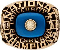 1976 University of Pittsburgh Panthers NCAA Football Championship Ring Presented to Bob Leahy