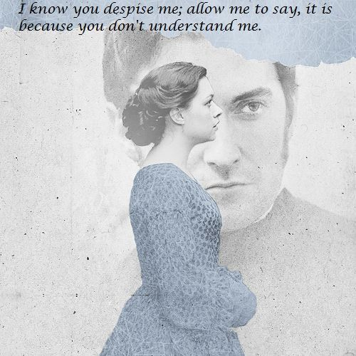 """I know you despise me; allow me to say, it is because you don't understand me."" - North & South directed by Brian Percival (TV, Mini-Series, BBC, 2004) #elizabethgaskell #fanart"