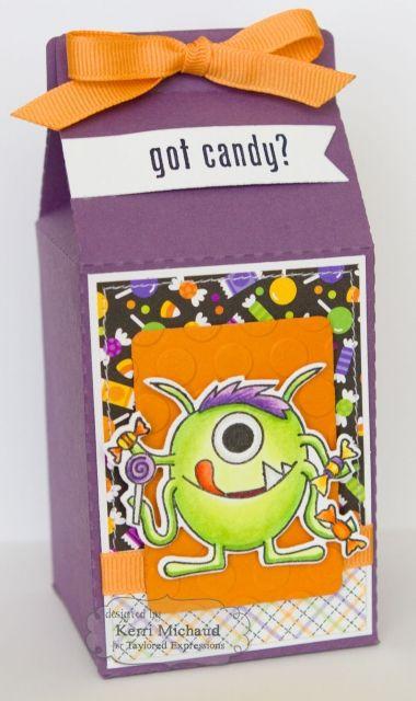 treat holder by kerri michaud halloween treatholders - Halloween Cartons