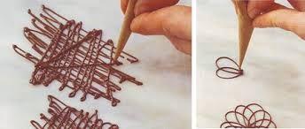 come fare decorazioni di cioccolato - Cerca con Google
