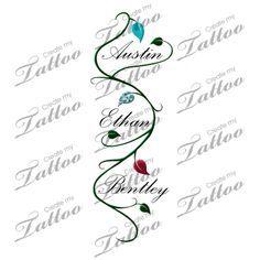 thin vine tattoo designs - Google Search