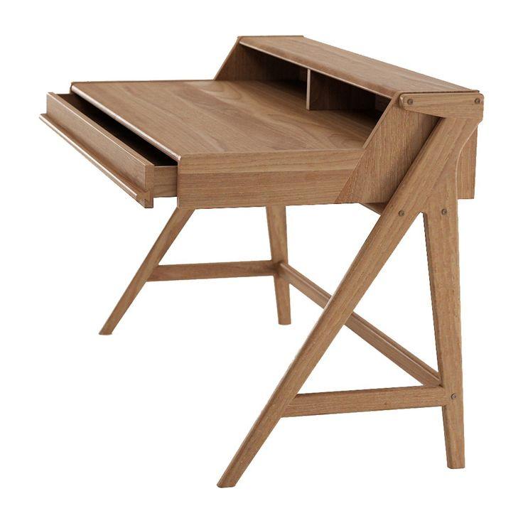 Shop Scandinavian Office Desk Online or Visit Our Showrooms To Get Inspired With The Latest Office Desk From Karpenter - Tribute Desk (Teak)
