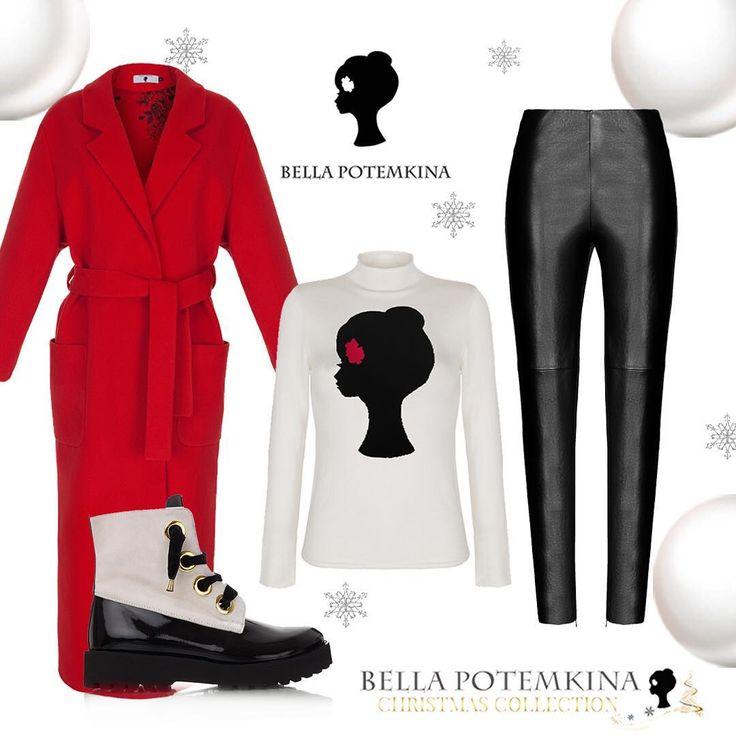 """✨Тёплый образ,чтобы согреться зимой🎁🌲пальто """"Модена""""  макси (34990), джемпер """"Лого"""" (10990), брюки """"Резэ"""" (14990), ботинки комбинированные (39990)❤️ #ilovebellapotemkina #богиня #богинивнарядахотbellapotemkina #бутикbellapotemkina #беллапотемкина #bellapotemkina #bellapotemkinaofficial #девочкитакиедевочки #принтbellapotemkina #брендbellapotemkina #новаяколлекция #newcollection #vogue #new #осеньзима1617 #fallwinter1617 #lookoftheday #dailylook #dress Уважаемые покупатели!😻🙌🏻Будьте…"""