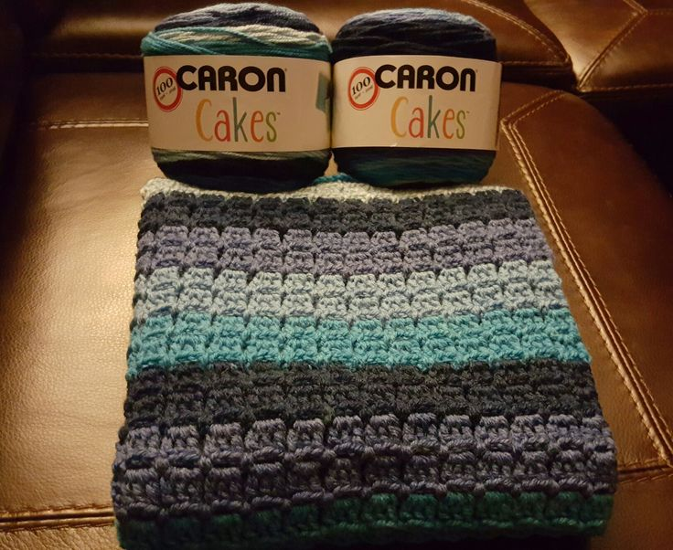Caron cakes blueberry cheesecake crochet blanket