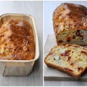 Cake tomates confites, artichaut et parmesan