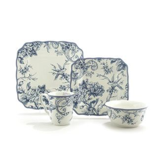 222 Fifth Adelaide Blue/ White Dinnerware Set - Overstock™ Shopping - Great Deals on 222 Fifth Casual Dinnerware  sc 1 st  Pinterest & 471 best Dinnerware images on Pinterest | Porcelain Tea cup and Tea ...