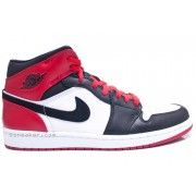 555088-184 Air Jordan 1 Retro Black Toe High OG White Black Gym Red   $107.00  http://www.thebluekicks.com/