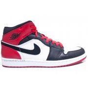 555088-184 Air Jordan 1 Retro Black Toe High OG White Black Gym Red  $107.00   http://www.thebluekicks.com/