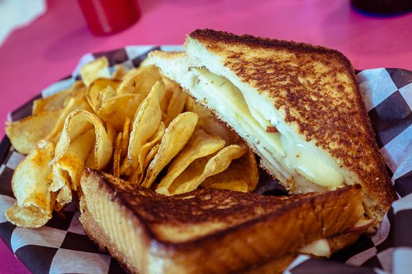 Brie & Apple Grilled Cheese from Lulu's Cafe on Ocean Boulevard in Myrtle Beach