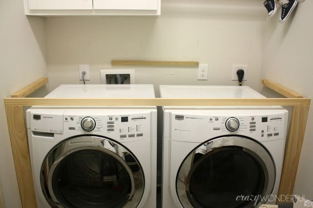 DIY, a built in washer + dryer tutorial for your laundry room