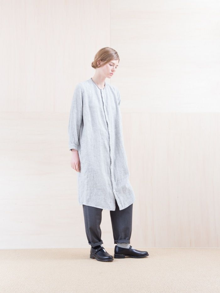 NO CONTROL AIR WINTER LINEN TWILL SHIRTS ONE-PIECE (light grey top) - 香川県高松市のセレクトショップ IHATOVE(イーハトーブ) NEPENTHES,Ordinary fits,TATAMIZE,MOTOの通販