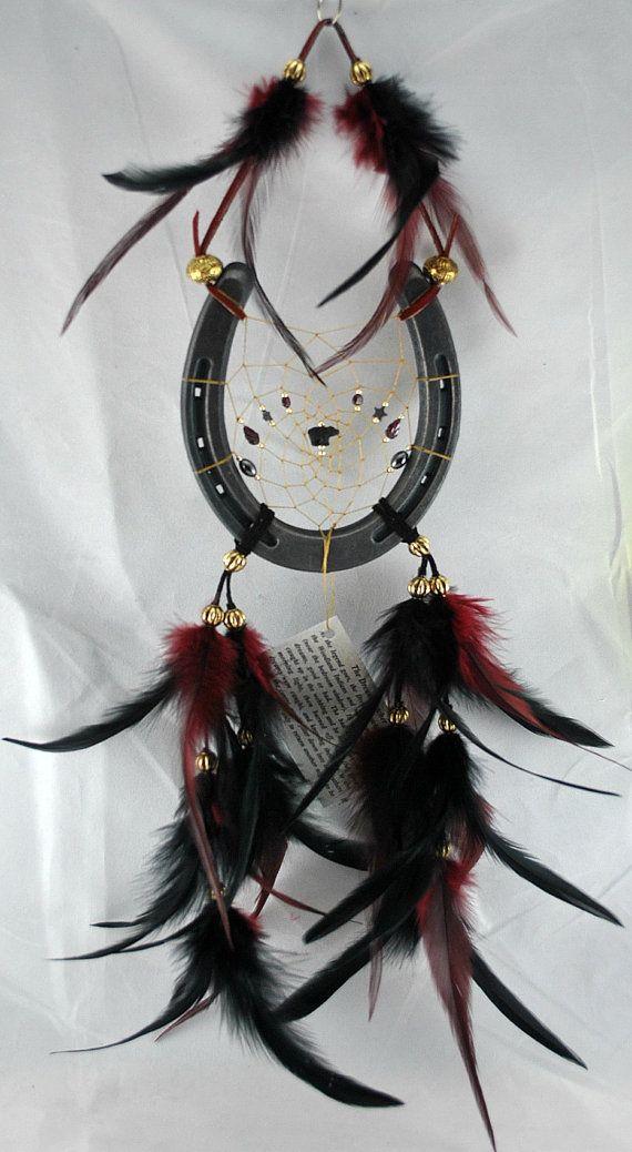 Dreamcatcher Horseshoe in Cherokee Colors with door OriginalsByCathy