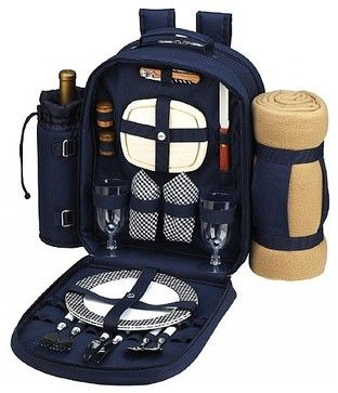 Bold Backpack With Blanket for 2 contemporary-picnic-baskets