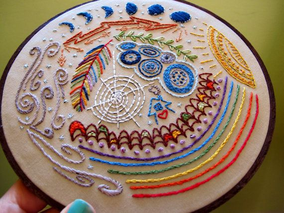 full circle  embroidery sampler pattern by cozyblue on Etsy, $10.00