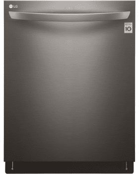 LG LDT5665BD 24 Inch Fully Integrated Dishwasher with 15 Place Setting Capacity, QuadWash, 9 Wash Cycles, EasyRack System with Height Adjustable Racking and Foldable Tines, NeveRust Stainless Steel Tub and ENERGY STAR: Black Stainless Steel