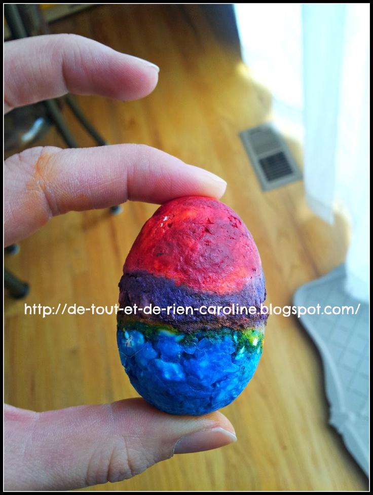 Easter eggs soap - Faire des savons en forme d'oeuf et avec peu d'ingrédients et de temps