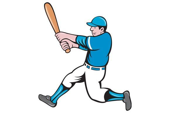 Baseball Player Batter Swinging Bat Isolated Cartoon Illustration Of An American In 2020 Cartoon Styles Cartoon Illustration Retro Illustration
