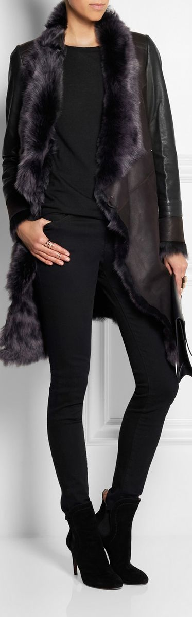 Karl Donoghue's ● plush shearling coat
