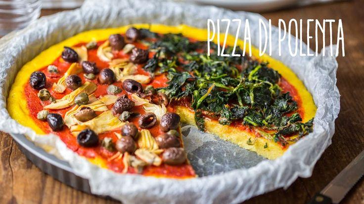 Pizza di polenta vegana
