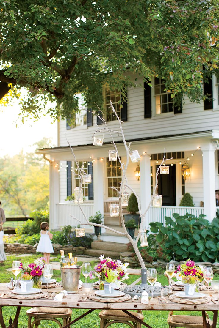Casual Outdoor Entertaining | Virginia Farmhouse Summer Party | Southern Living