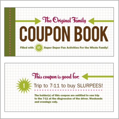 Family Coupon Book What A Great Idea For A Stocking