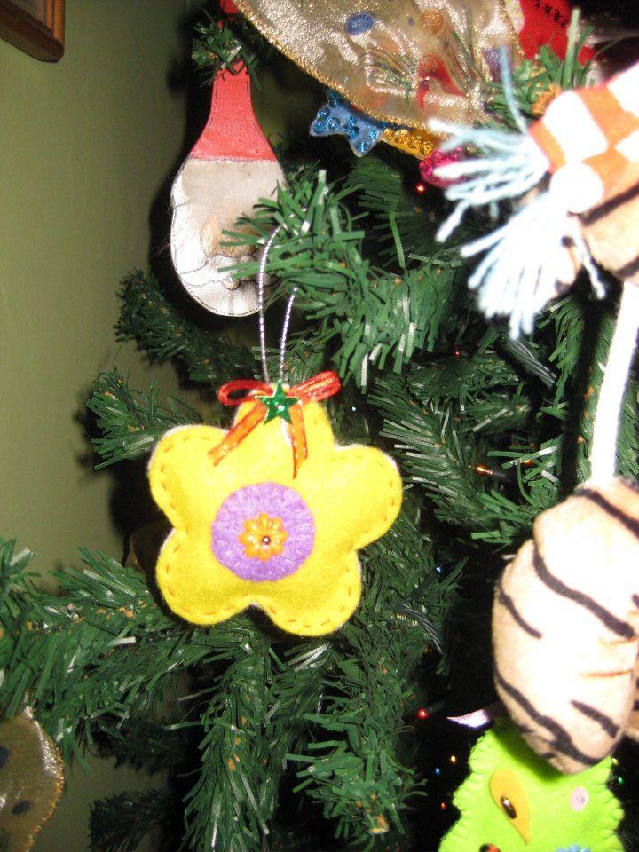 Flor navideña, adorno arbol
