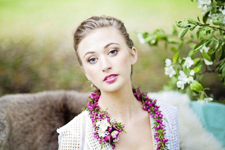 //styled shoot// Blossoms & dreams  Hair and makeup:Rebecca Paris The Girl in the Green Scarf Photos: Katie Kav   #braids #dutchbraid #braidupdo #ponytail #bride #brideinspo #bridesmaid #wedding #weddinginspo #hairstylist