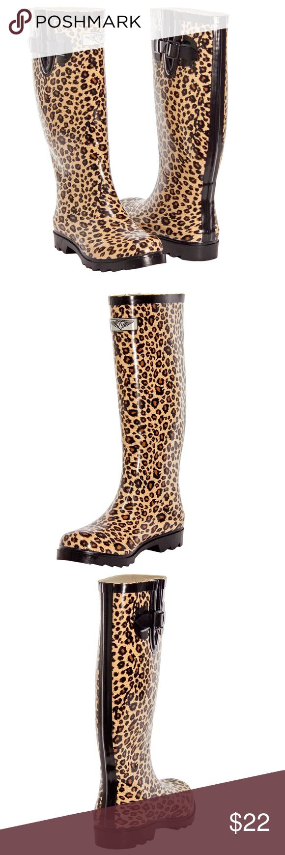 """Women Animal Print Rubber Rainboots RB1402 Enjoy rainy weather in stylish ladies' rainboots! 100% rubber, full cotton lining. Whatever you call them- wellies, galoshes, rainboots or sluggers, your feet are sure to stay dry while exploring puddles or gardening! Run half a size large to accommodate a thick sock. Not made for wide calves. calf circumference approximately 15"""" Forever Young Shoes Winter & Rain Boots"""