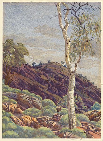 Albert NAMATJIRA, Spinifex Ridge near Mt Wallace waterhole