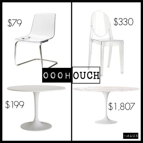 Ikea tobias chair vs philippe starck victoria ghost chair ikea