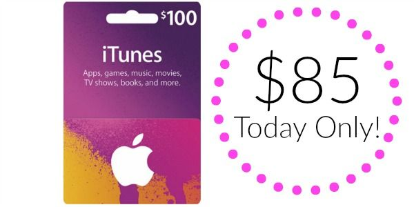 $100 iTunes Gift Card Only $85 shipped! | Itunes gift cards ...
