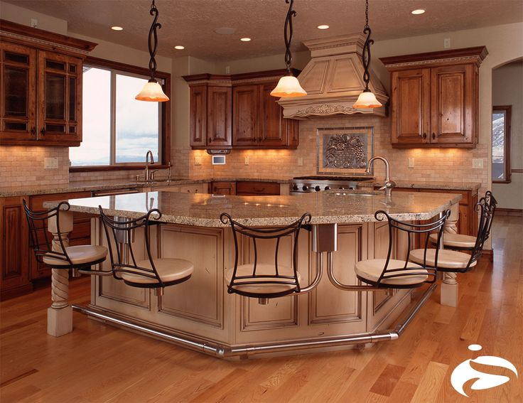 A Beautiful Kitchen With Great Looking Snack Bar Chairs