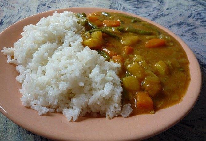 Japán vegetáriánus curry