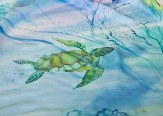 Sirena Vestido de seda túnica caftán playa vestido por SilkWonder