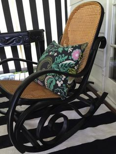 Image result for wicker rocking chair before after