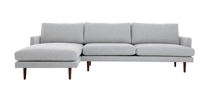 Tremendous Elton Sectional Sofa Light Gray Fabric Left Shop In 2019 Download Free Architecture Designs Parabritishbridgeorg