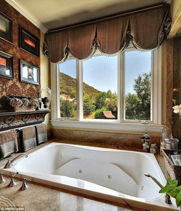 Big Enough For Two: The Gorgeous Bathroom Has A Sunken Tub Where Britney  And Jason