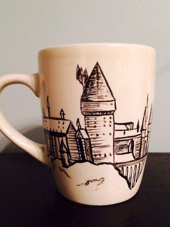 Hogwarts Castle Mug by CloversAndThings on Etsy