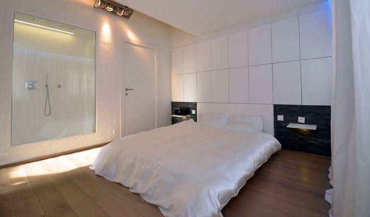 Afvoer Badkamer Lijmen ~ Slaapkamer met ge?ntegreerde badkamer Om de badkamer te betrekken