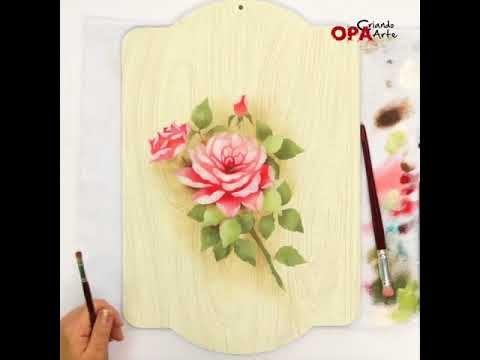 Stencil Rosas | Mayumi Takushi | Opa Criando Arte - YouTube